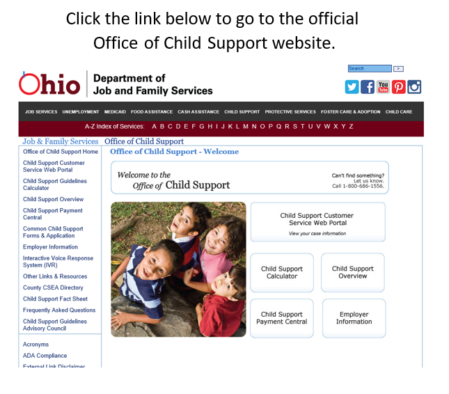 Office of Child Support Customer Service Web Portal